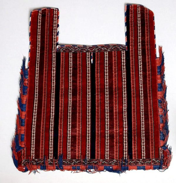Late 19th or early 20th century Yomut horse cover 135×108 cm. Exhibitor Alberto Boralevi.