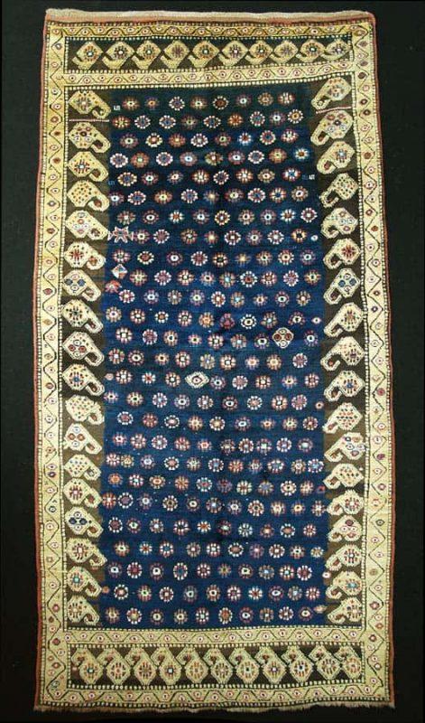 Kazak rug, probably Genje, age: 19th Century, 254 x 128 cm. Exhibitor Mohammad Tehrani