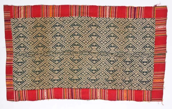 Early 20th century Laotian cotton blanket. Exhibitor Trudy Field