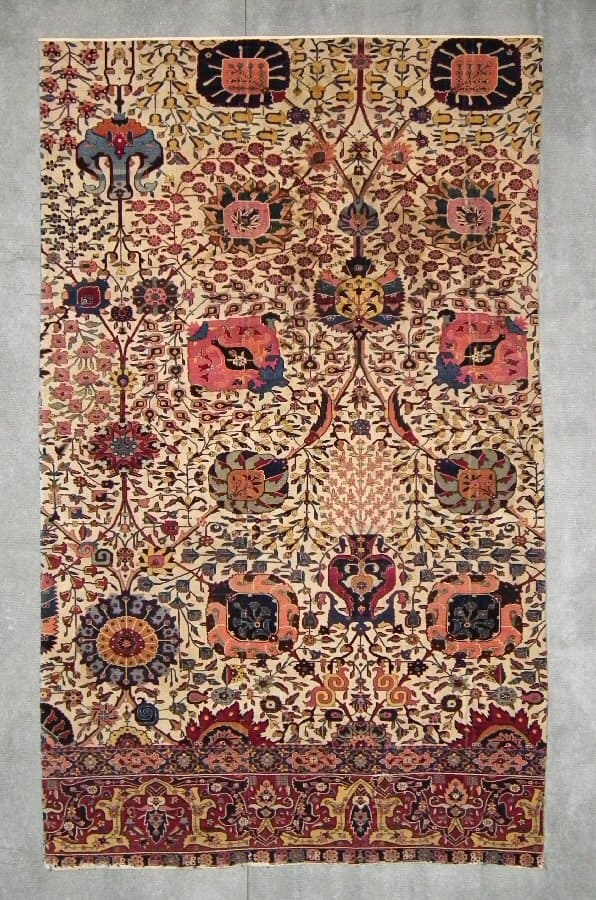 Kerman carpet fragment, South Persia second half 17th century