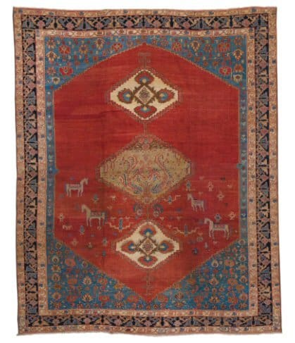 Lot 27. A BAKSHAISH CARPET, NORTH PERSIA Estimate: 10,000 - 15,000 USD approximately 13ft. 6in. by 11ft. 1in. (4.11 by 3.38m.) circa 1880