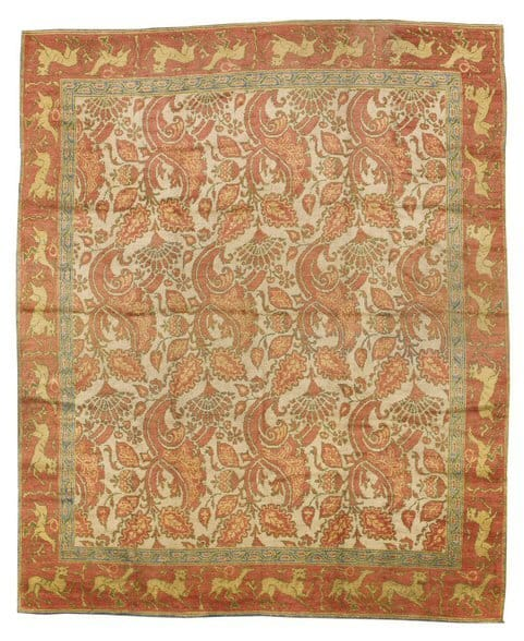 Lot 208. A SPANISH CARPET. Estimate 5,000 – 7,000 USD. Approximately 15ft. 5in. by 12ft. 7in. (4.70 by 3.84m.) circa 1900