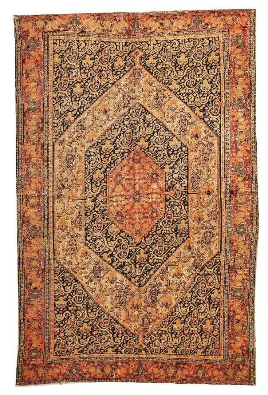 Lot 3030. A Senneh rug Central Persia late 19th century size approximately 4ft. 4in. x 6ft. 6in. Estimate: US$ 4,500 – 5,500