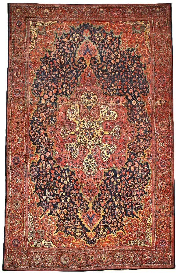 Lot 3147. A Fereghan carpet Central Persia circa 1900 size approximately 12ft. 3in. x 19ft. Estimate: US$ 15,000 – 20,000