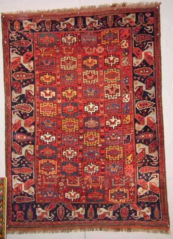Qashqai rug 19th century exhibited by Mohammad Tehrani