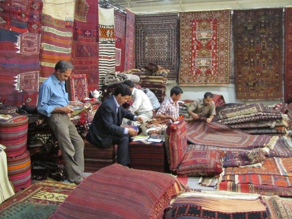The stand of Saeed Otady at Tehran Handmade Carpet Fair 2012