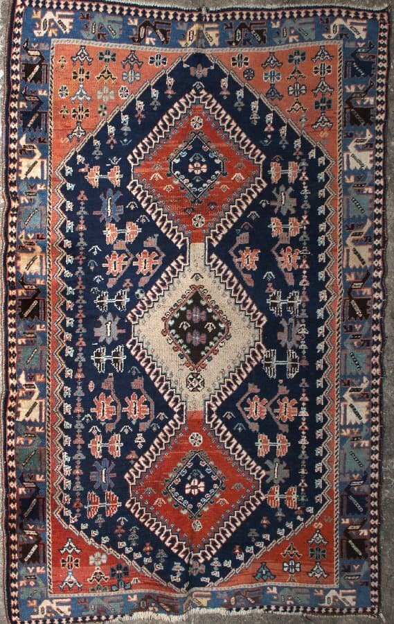 Lot 6103. A Yalameh Rug size approximately 4ft. x 3ft. 6in. Estimate: US$ 200 – 300