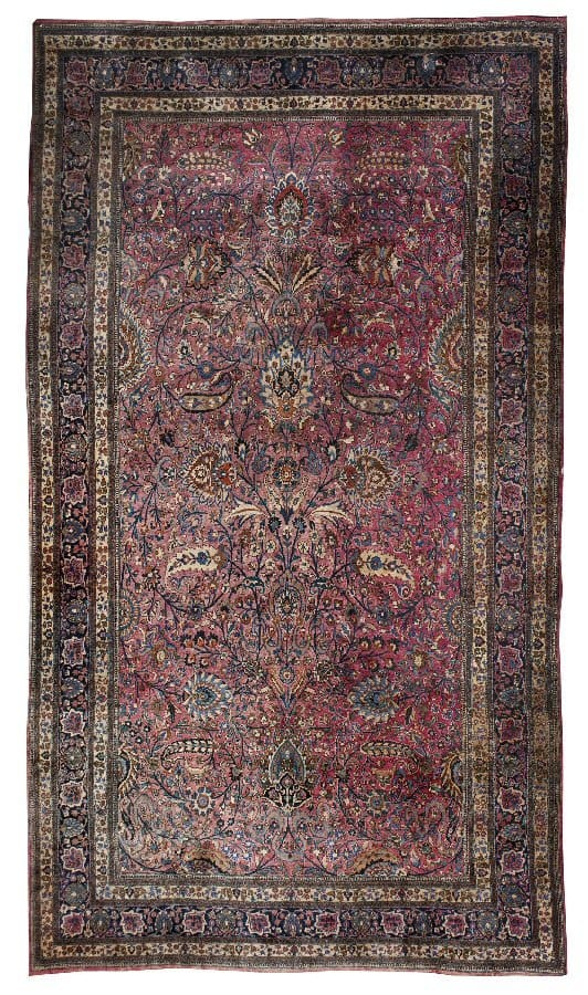 "Bonhams 7 November 2012: Lot 173, a Meshed carpet 750cm x 425cm (24'8″ x 13'11""). Estimate: £7,000 – 9,000"