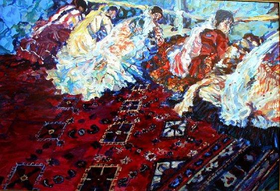 A friend Helene Turgeon, painted some great paintings from my Qashai photos said Paul Shaper to Jozan Magazine