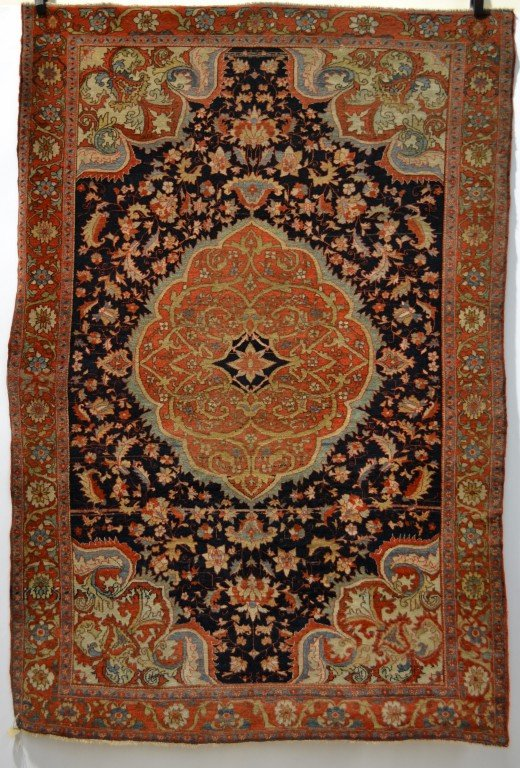 Lot 1514. A Malayer rug, north west Persia about 1900-20, 2.01m. x 1.35m. Estimate £3000-3500