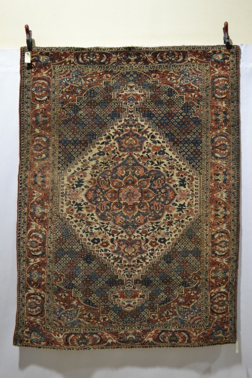 Lot 1578. A Bakhtiari rug, Shahr Kord, Chahar Mahal Valley, south west Persia about 1900-20, 1.96m. x 1.45m. Estimate £1200-1500