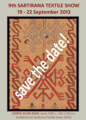 Xmas postcard Sartirana Textile Show 2013