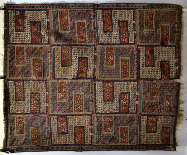 Lot 2016. A Caucasian sileh, probably Kuba region, north east Caucasus early 20th century, 2.51m. x 2.08m. Estimate £2000-3000
