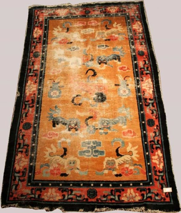 Lot 3424, a NINGSIA, West-China, circa 1850, 124x207 cm. Estimate 1,000 EUR