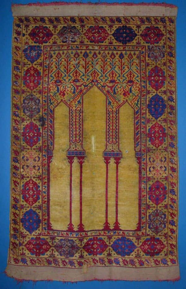17th century Ladik prayer rug from a former exhibition at The Museum of Applied Arts in Budapest.(ICOC Symposium in Prague)