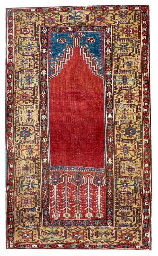 849 Ladik prayer rug 18th ct 188x112cm - Ladik rugs