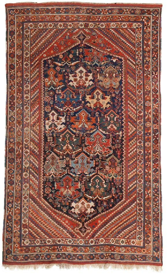 887 Afshar rug 19th ct 260x156cm - Afshar rugs