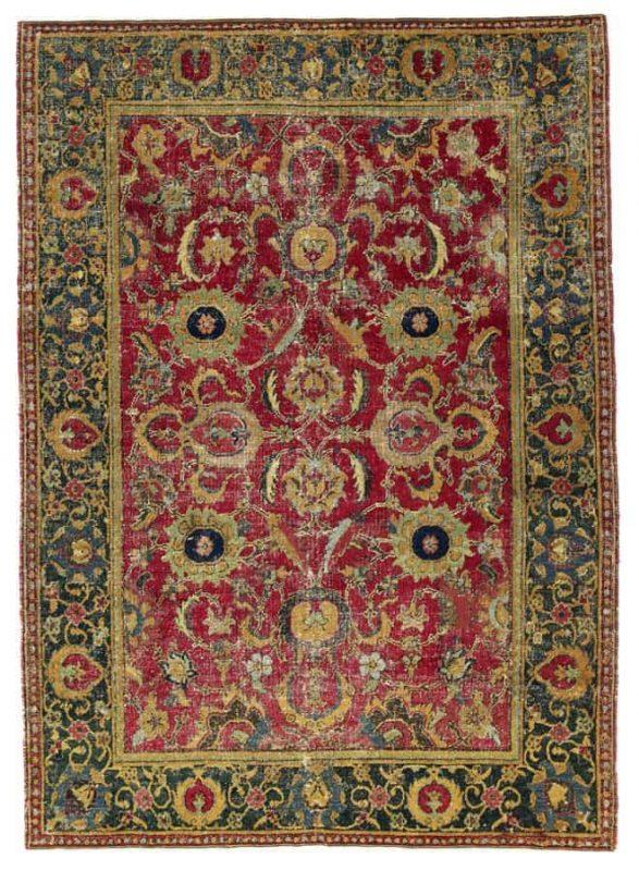 Lot 178, a 17th century Isfahan rug