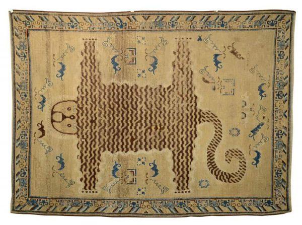 Tibetan Tiger Rug, 19th century