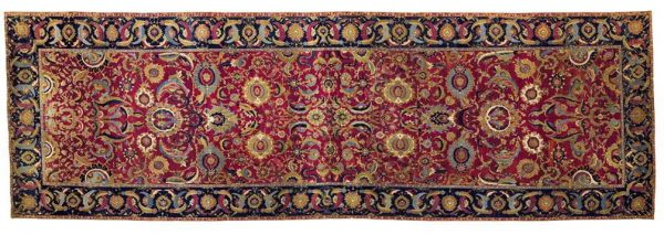 The Lafões Carpet. An Isfahan carpet, Central Persia, 17th century. Size approximately 44ft. 3in. by 14ft. 2in. (13.49 by 4.32m.) Estimate $800,000-1,200,000