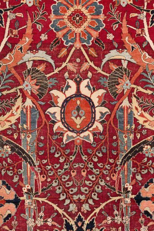 Detail of The Clark 'sickle-leaf' Carpet