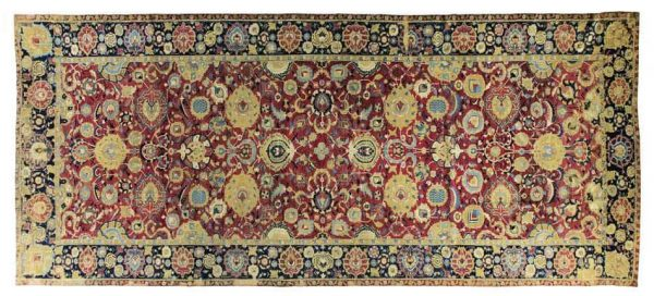 An Isfahan carpet, Central Persia, 17th century. Size approximately 22ft. 3in. by 9ft. 5in. (6.78 by 2.87m.) Estimate $150,000-200,000