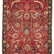 The Clark 'sickle-leaf,' vine scroll and palmette carpet, probably Kirman, Southeast Persia, 17th century.