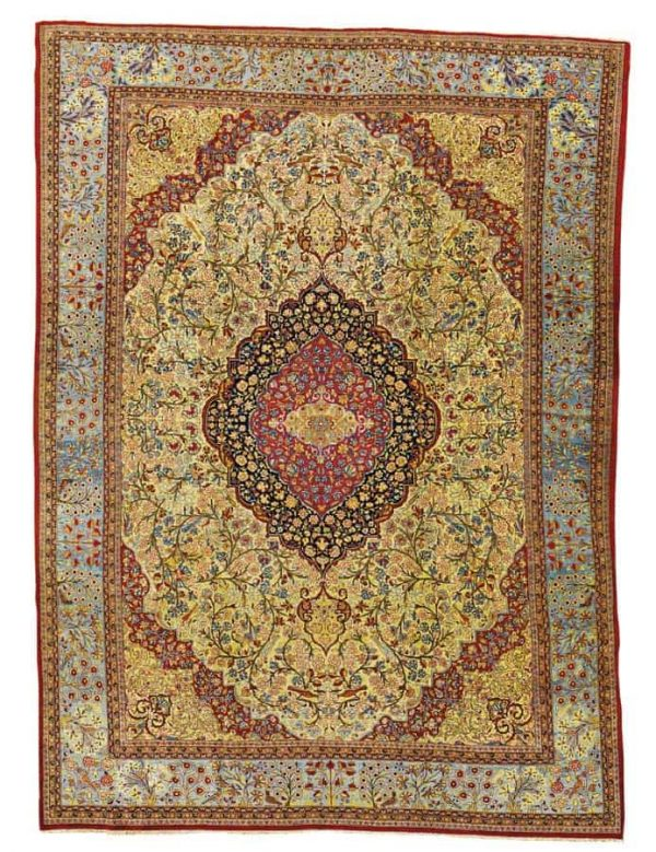 Lot 228, a circa 1910 Dabir Kashan carpet. Size approximately 14ft. by 10ft. 2in. (4.27 by 3.10m.) Estimate 14,000 – 18,000 USD