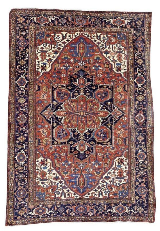Lot 52, a Karaja carpet, North West Persia, 379cm x 263cm. Estimate: £4,000 – 6,000