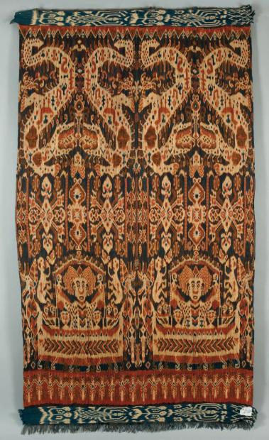 Lot 57, a late 19th or early 20th century Indonesian ikat 254 x 150 cm. Estimate 300 – 600 EUR