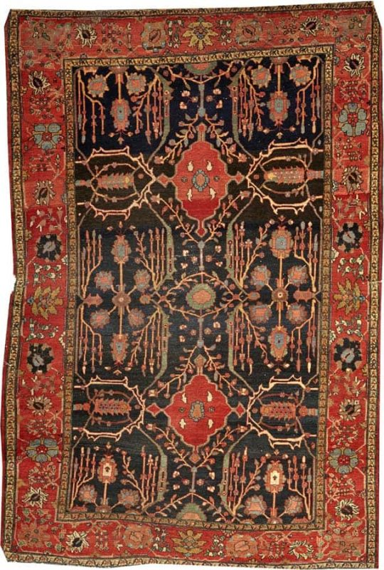 Lot 1217, a Fereghan Sarouk rug Central Persia size approximately 4ft. 6in. x 6ft. 7in. Estimate: US$ 700 – 900