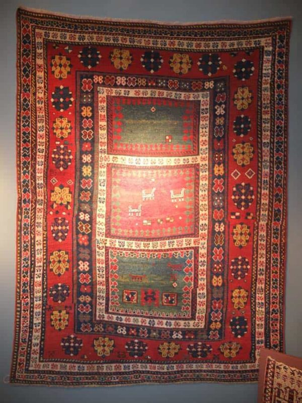 Mid 19th century Kazak made for domestic use. Exhibitor Herbert Bieler