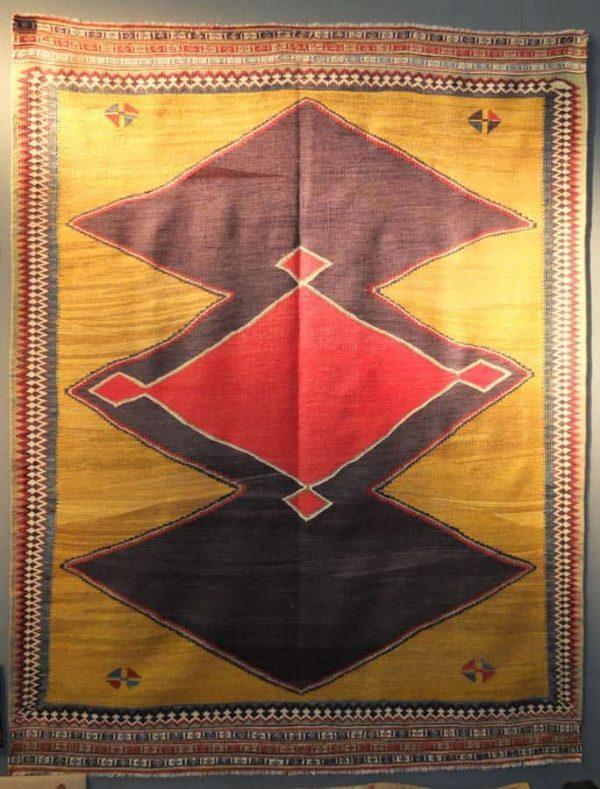 Qashqai kilim. Exhibitor N. Vrouyr, Antwerpen