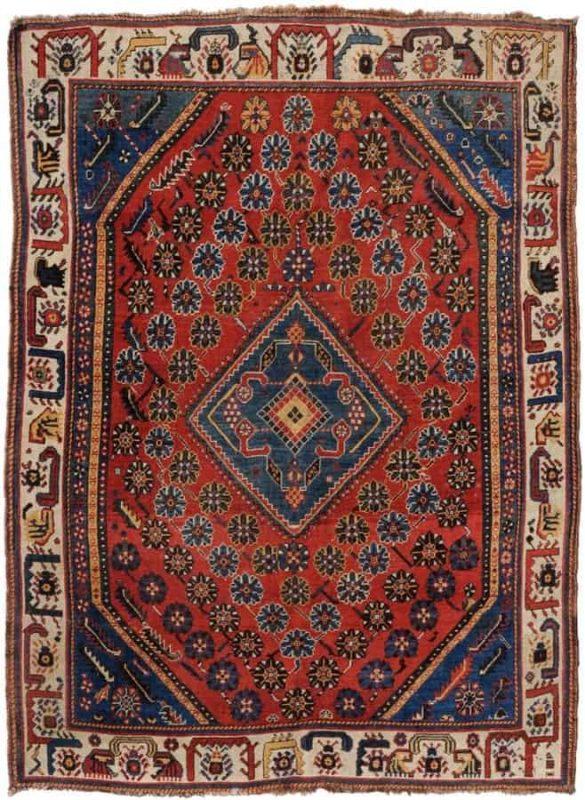 Lot 558. Qashqai circa 1900. Size 126×170 cm. Estimate EUR 500 – 670
