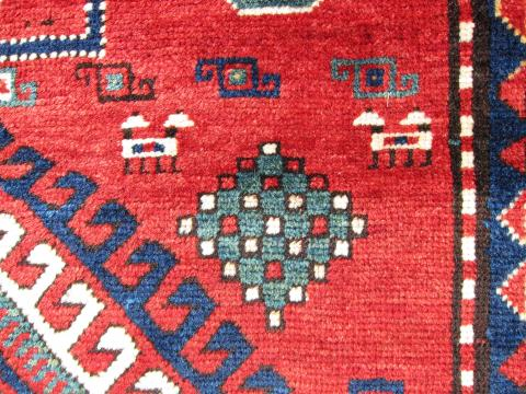 Kazak Detail Reyn Staffel - Less than two months to the Antique Rug & Textile Show