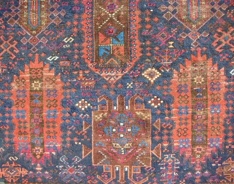 Timuri Baluch main rug Patrick Pouler - Less than two months to the Antique Rug & Textile Show