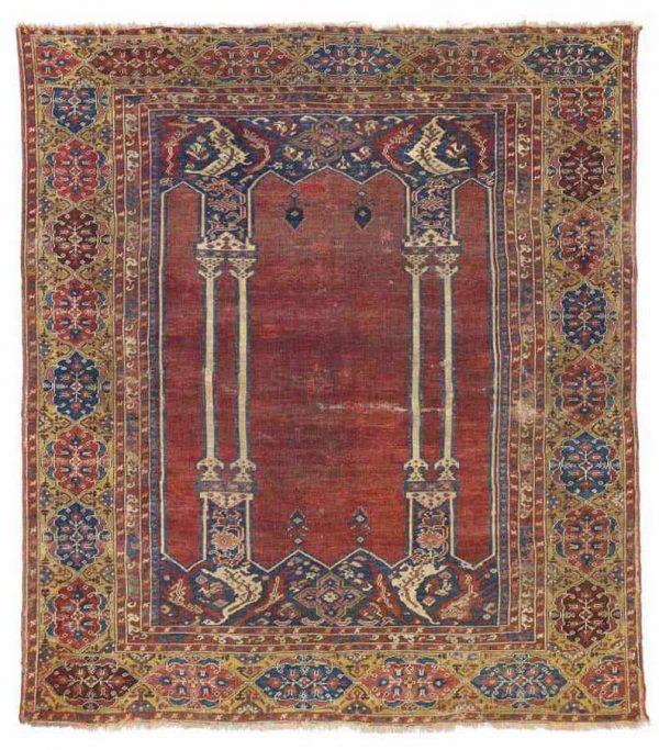 152 a ladik double column prayer rug central anatolia late 17th century 600x683 - Ladik rugs