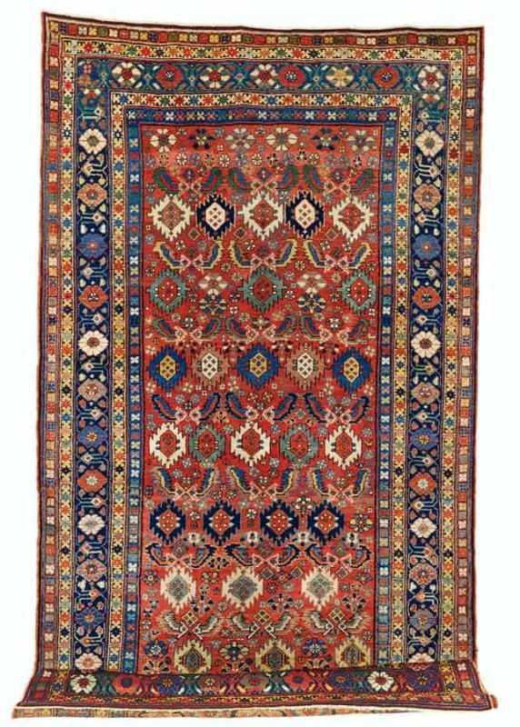 Lot 272, a Kurdish carpet, North West Persia from the end of the 19th century. Size 379 x 179 cm and estimate 7.500 EUR