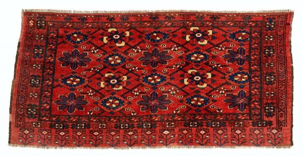 Lot 67, an Ersari chuval, end of the 19th century, 83×170 cm. Estimate 600 EUR