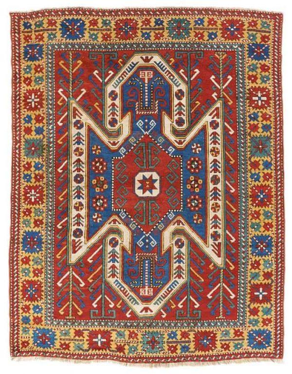 Lot 154. 19th century Shield Kazak 241 x 185 cm. Estimate 4,000 €