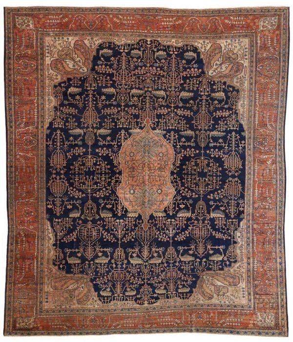 Lot 239. Feraghan carpet 424 x 380 cm. Estimate 8,000 €