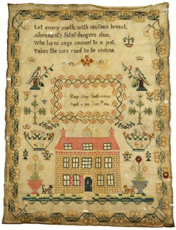Lot 1811: English sampler, early 19th century. Estimate: £300-500