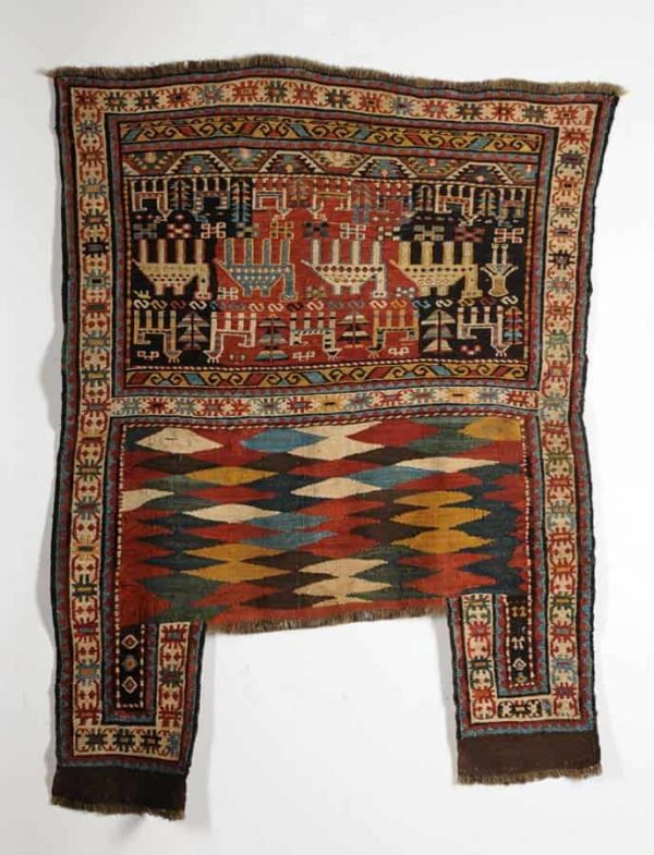 Antique Caucasian Shasevan soumak horse cover. (Lauritz.com November 2013)