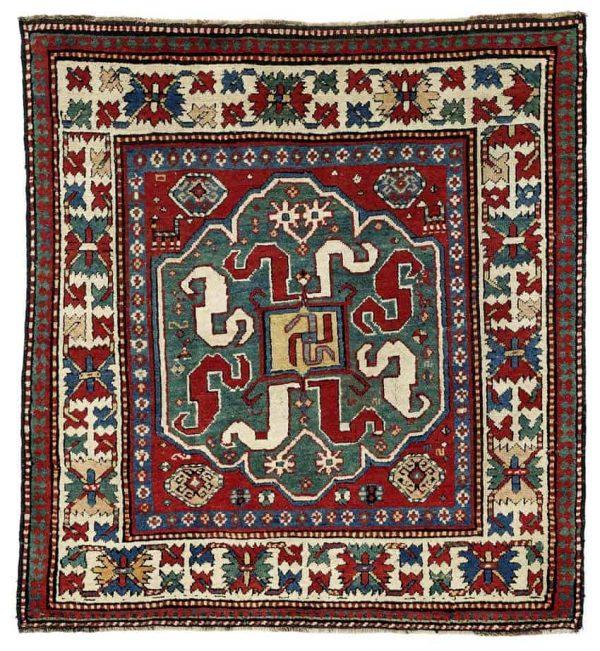 Lot 57, a Chondzoresk, South Caucasus, Karabagh region, 148 x 143 cm, second half 19th century, estimate 7,200.00 €