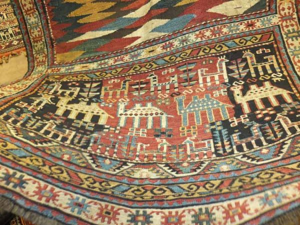 Another antique Shasevan soumak horse cover
