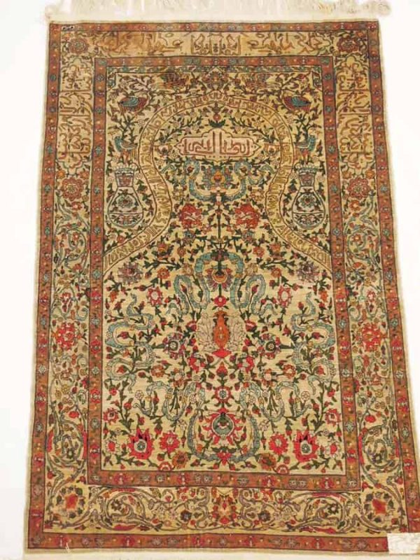 Lot 230. Silk Hereke 157 x 100 cm (Auktionshaus Hüll January 2014)