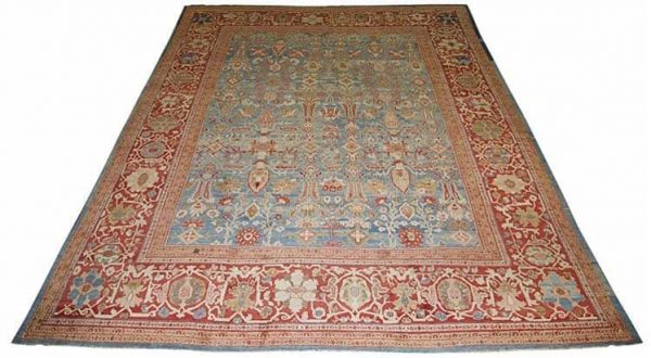 Lot 817, ZIEGLER SULTANABAD CARPET, Persia, ca. 1870; Size 20 ft. x 16 ft.; (altered in size) Estimate $10,000-20,000