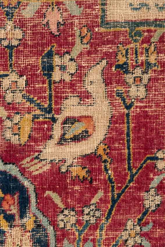 Figdor Carpet, detail, Kerman garden carpet, Safavid Empire, South Iran, 1st half 17th century 191 x 156 cm, purchased at the Albert Figdor auction in 1930. © Lois Lammerhuber/MAK