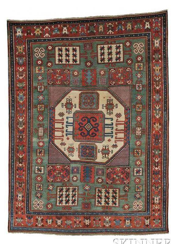 Lot 158. Karachov Kazak Rug, Southwest Caucasus, mid-19th century. Estimate $12,000 - $15,000