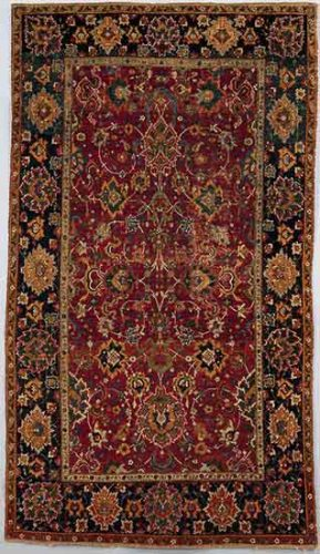 Carpet 17th century IranCotton (warp and weft); wool (pile); asymmetrically knotted pile 97.5 x 56.25 in. (247.65 x 142.87 cm) The Metropolitan Museum of Art, Gift of Ralph Dudley, 1953 (53.214)Image: © The Metropolitan Museum of Art, New York